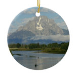 Jackson Hole River Ceramic Ornament