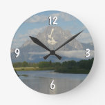 Jackson Hole River Round Clock