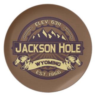 Jackson Hole Sepia Melamine Plate