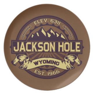 Jackson Hole Sepia Party Plates
