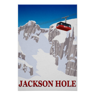 Jackson Hole Ski Resort Cable Car Poster
