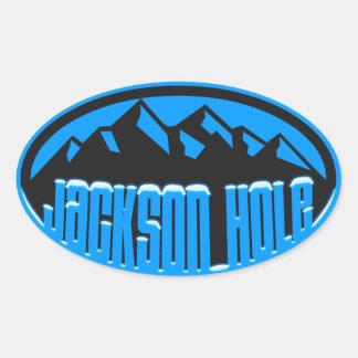 Jackson Hole Snowcapped Oval Stickers
