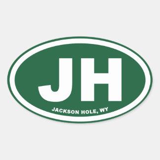 Jackson Hole Oval Sticker