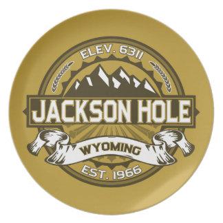Jackson Hole Tan Party Plate