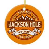 Jackson Hole Tangerine Ceramic Ornament
