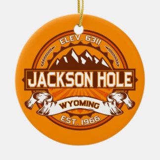 Jackson Hole Tangerine Ceramic Ornament