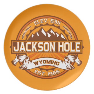 Jackson Hole Tangerine Dinner Plates