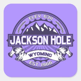 Jackson Hole Violet Square Sticker