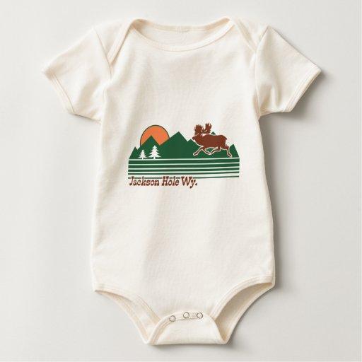 Jackson Hole Wyoming Baby Bodysuit