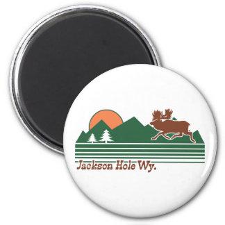 Jackson Hole Wyoming Imán Redondo 5 Cm