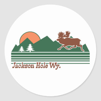 Jackson Hole Wyoming Pegatina Redonda