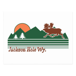Jackson Hole Wyoming Postcard