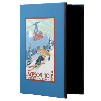 Jackson Hole, Wyoming Skier and Tram Case For iPad Air