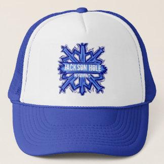 Jackson Hole Wyoming snowflake hat