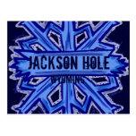 Jackson Hole Wyoming snowflake postcard