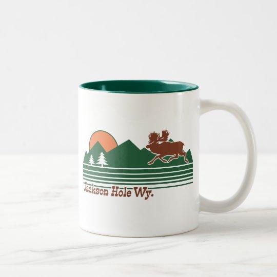 Jackson Hole Wyoming Two-Tone Coffee Mug