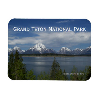 Jackson Lake, Grand Teton Magnet Rectangle Magnets