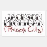 Jackson Michigan Pegatina
