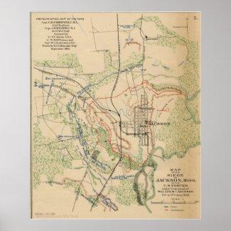 Jackson, Mississippi 1863 Print
