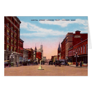 Jackson Mississippi Capitol Street Greeting Card