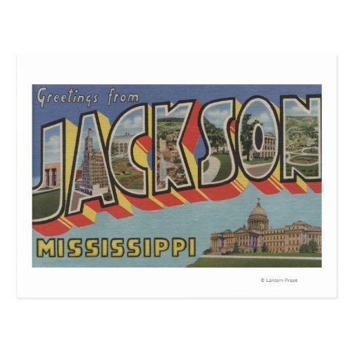 Jackson, Mississippi - escenas grandes de la letra Tarjeta Postal