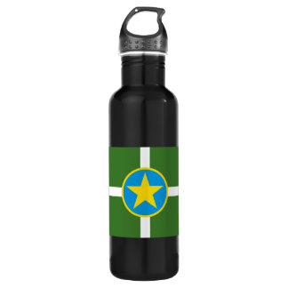 Jackson Mississippi Flag Stainless Steel Water Bottle