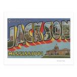 Jackson, Mississippi - Large Letter Scenes Postcard
