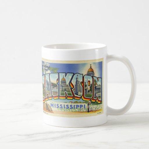 Jackson Mississippi Vintage Large Letter Mug