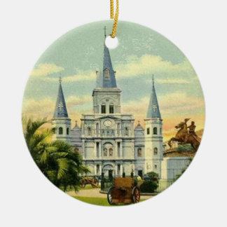 Jackson New Orleans cuadrada Adorno Redondo De Cerámica