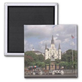 Jackson New Orleans cuadrada Imán Cuadrado