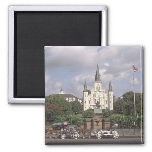 Jackson New Orleans cuadrada Iman Para Frigorífico