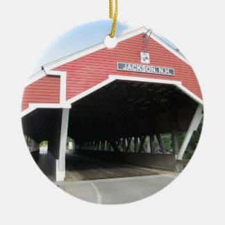 Jackson NH Covered Bridge Ceramic Ornament