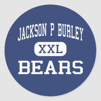 Jackson P Burley Bears Charlottesville Classic Round Sticker