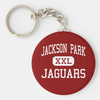 Jackson Park - Jaguars - Middle - Wyoming Michigan Basic Round Button Keychain