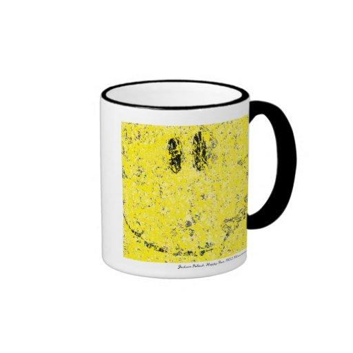 jackson pollock happy face mug