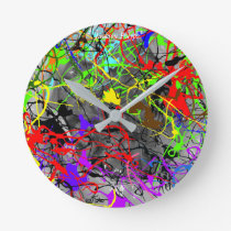 Jackson Polyps Round Clock