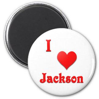 Jackson -- Red Fridge Magnets