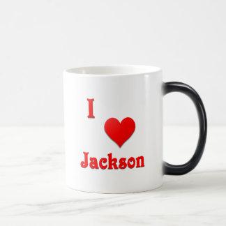 Jackson -- Red 11 Oz Magic Heat Color-Changing Coffee Mug