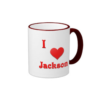 Jackson -- Red Ringer Coffee Mug
