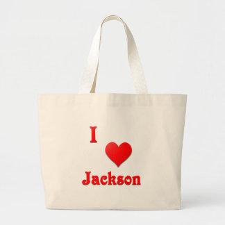 Jackson -- Red Tote Bag