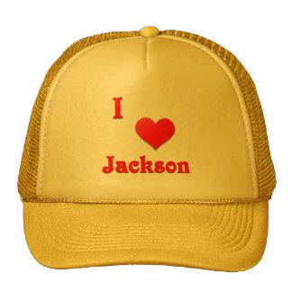 Jackson -- Red Trucker Hat