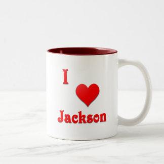 Jackson -- Red Two-Tone Coffee Mug