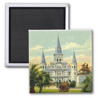 Jackson Square 2 Inch Square Magnet