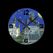 Jackson Square Abstract wall clocks