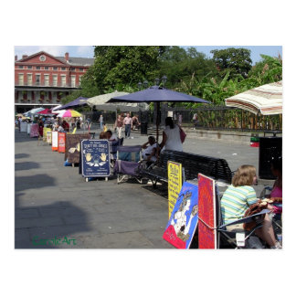 Jackson Square Artists Postcard