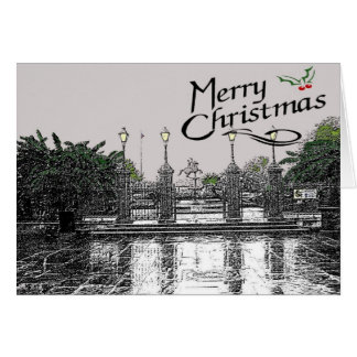 Jackson Square At Christmas Card