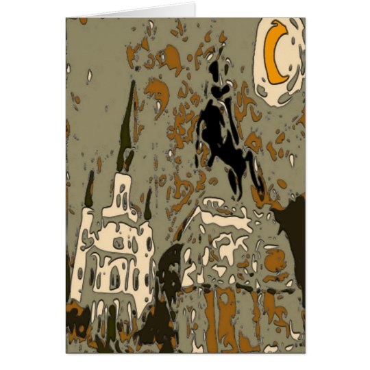 Jackson Square at Night Tile 14 Card