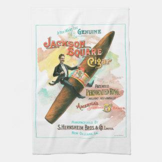 Jackson Square Cigar Hand Towel