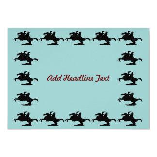 Jackson Square Horse, Add Headline Text 5x7 Paper Invitation Card