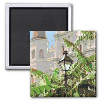 Jackson Square Lamp Post magnet